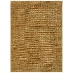 Hand-woven Natural Jute Rug (6' x 9')