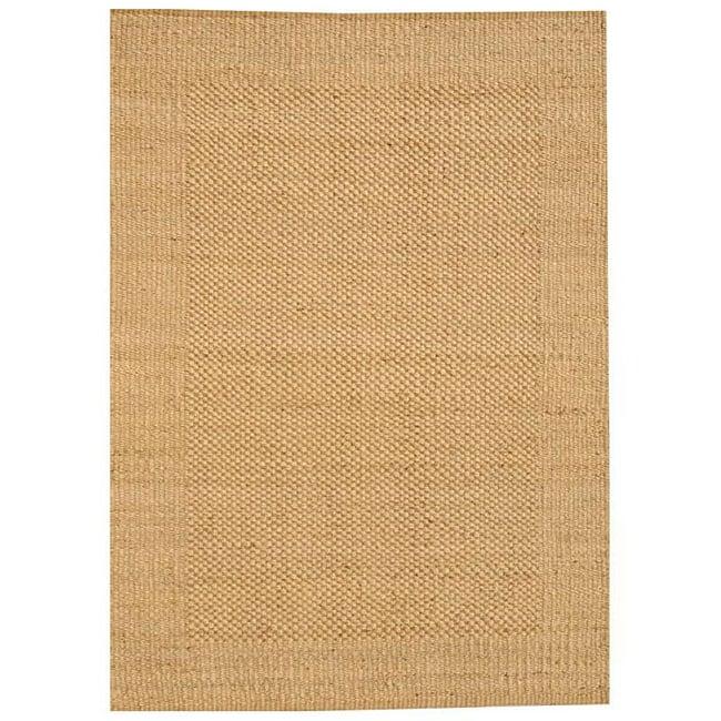 Hand-woven Gold Jute Rug (5' x 8') - 5' x 8'