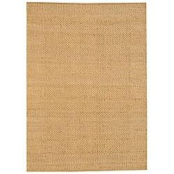 Hand-woven Gold Jute Rug (5' x 8') - 5' x 8' - Thumbnail 0
