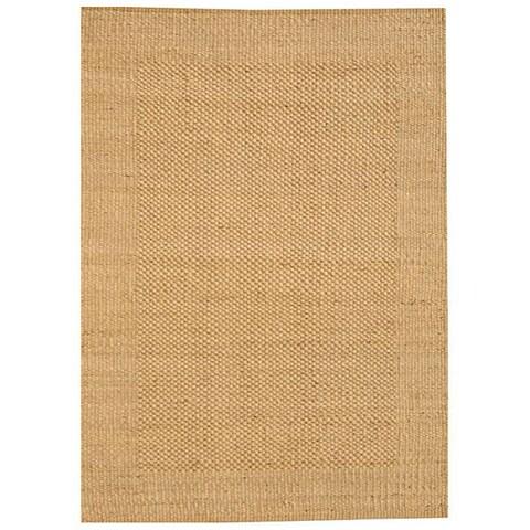 Hand-woven Gold Jute Rug (6' x 9') - 6' x 9'