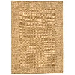 Hand-woven Gold Jute Rug (6' x 9')