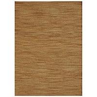 Hand-woven Abrush Natural Jute Rug (6' x 9') - 6' x 9'