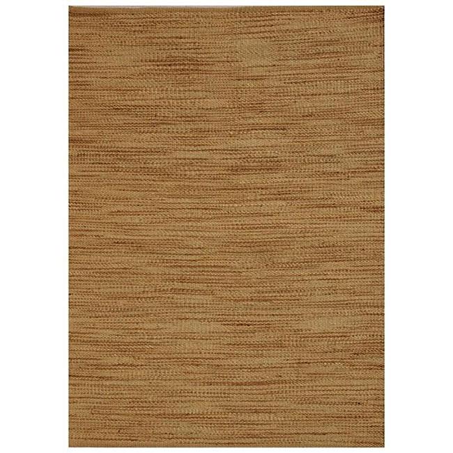 Hand-woven Abrush Natural Jute Rug (8' x 11')