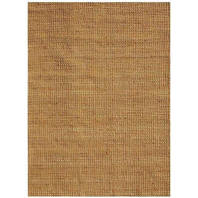 Hand-woven Basket Natural Jute Rug (5' x 8')