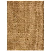 Hand-woven Basket Natural Jute Rug (6' x 9')