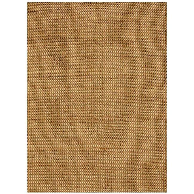 Hand-woven Basket Natural Jute Rug (8' x 11') - 8' x 11'