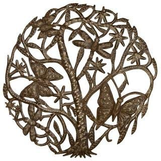 Handmade Metal 'Dancing Butterflies and Dragonflies' Oil Drum Art (Haiti)