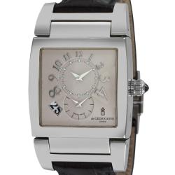 de GRISOGONO Men's 'Instrumento No. Uno' Automatic 2nd Time Zone Watch