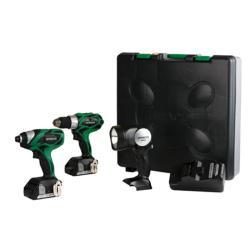 Hitachi 18-volt 1.5Ah Compact Pro 3-piece Cordless Tool Kit (Refurbished)