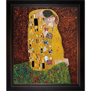 Gustav Klimt 'The Kiss (Full View)' Hand Painted Oil Reproduction