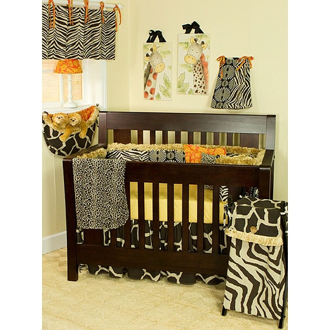 Cotton Tale 4-piece Orange Accent Crib Bedding Set in Sumba