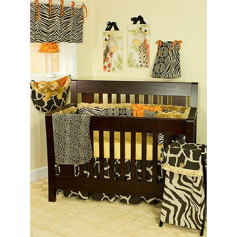 Cotton Tale 4-piece Orange Accent Crib Bedding Set in Sumba