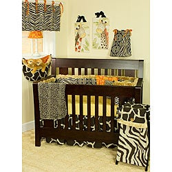 Cotton Tale 4-piece Orange Accent Crib Bedding Set in Sumba - Thumbnail 0