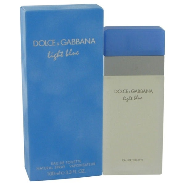 6b3804c6ee Shop Dolce   Gabbana Light Blue Women s 3.3-ounce Eau de Toilette Spray -  Free Shipping Today - Overstock - 5126211