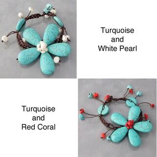 Handmade Cotton Rope Flower Bracelet (Thailand)