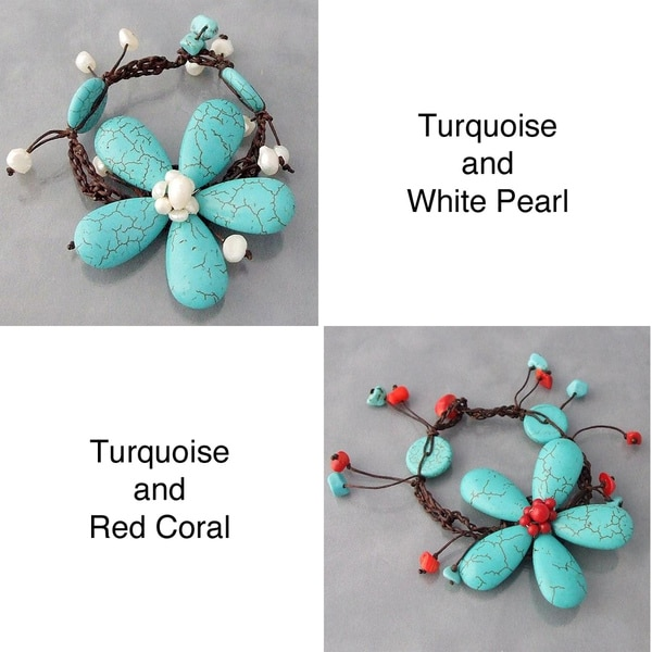 Handmade Cotton Rope Flower Bracelet (Thailand)