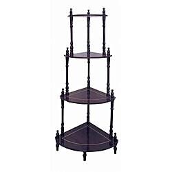 Cherry 4-tier Corner Stand