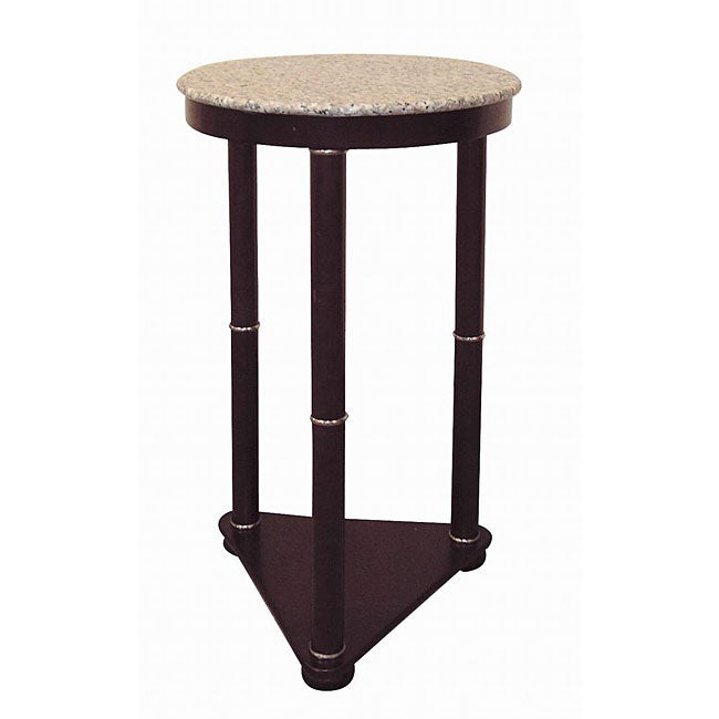 26-inch Tall Cherry Round Wooden End Table - Free Shipping Today ...