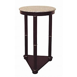26-inch Tall Cherry Round Wooden End Table