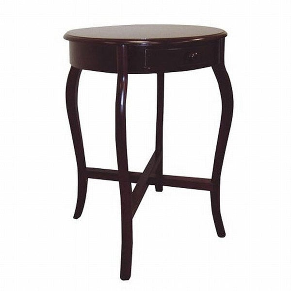 Round Cherry Wood End Table. Round Cherry Wood End Table   Free Shipping Today   Overstock com