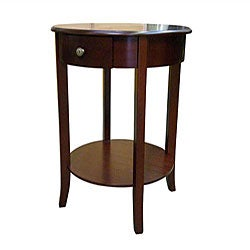 Round Cherry End Table
