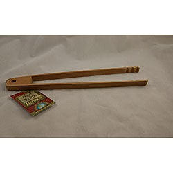 Burnished 11-inch Bamboo Tongs (Set of 3)