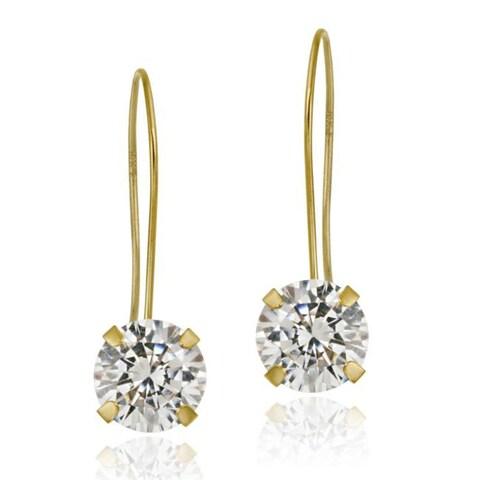 Icz Stonez 10k Yellow Gold Cubic Zirconia Dangle Earrings
