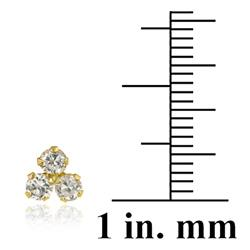 Icz Stonez 10k Yellow Gold Cubic Zirconia Cluster Stud Earrings - Thumbnail 2