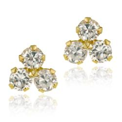 Icz Stonez 10k Yellow Gold Cubic Zirconia Cluster Stud Earrings