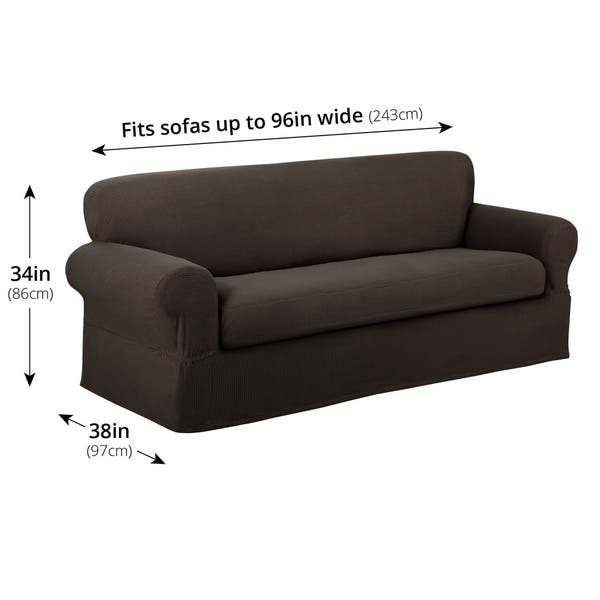 Fantastic Shop Maytex Reeves Stretch 2 Piece Sofa Slipcover Free Home Interior And Landscaping Eliaenasavecom
