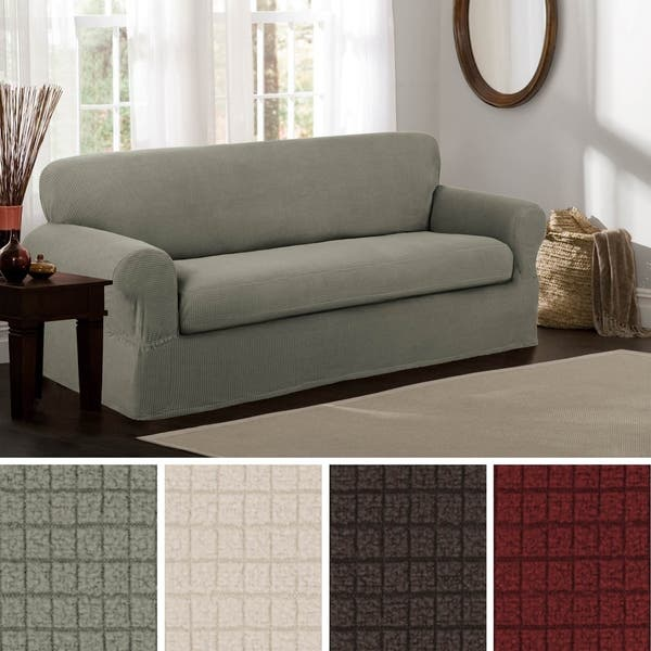 Remarkable Shop Maytex Reeves Stretch 2 Piece Sofa Slipcover Free Home Interior And Landscaping Eliaenasavecom