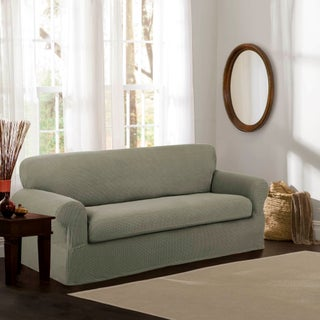 Maytex Reeves Stretch 2 Piece Sofa Slipcover / Furniture Slipcover