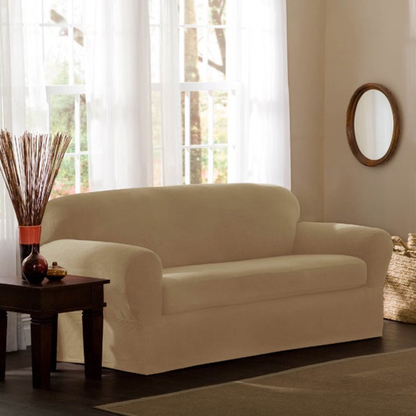 maytex reeves 2piece stretch loveseat slipcover free shipping today