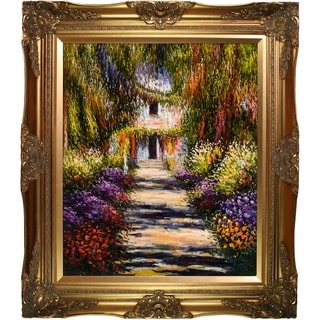 Monet 'Garden Path at Giverny' Canvas Art