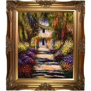 Monet 'Garden Path at Giverny' Canvas Art