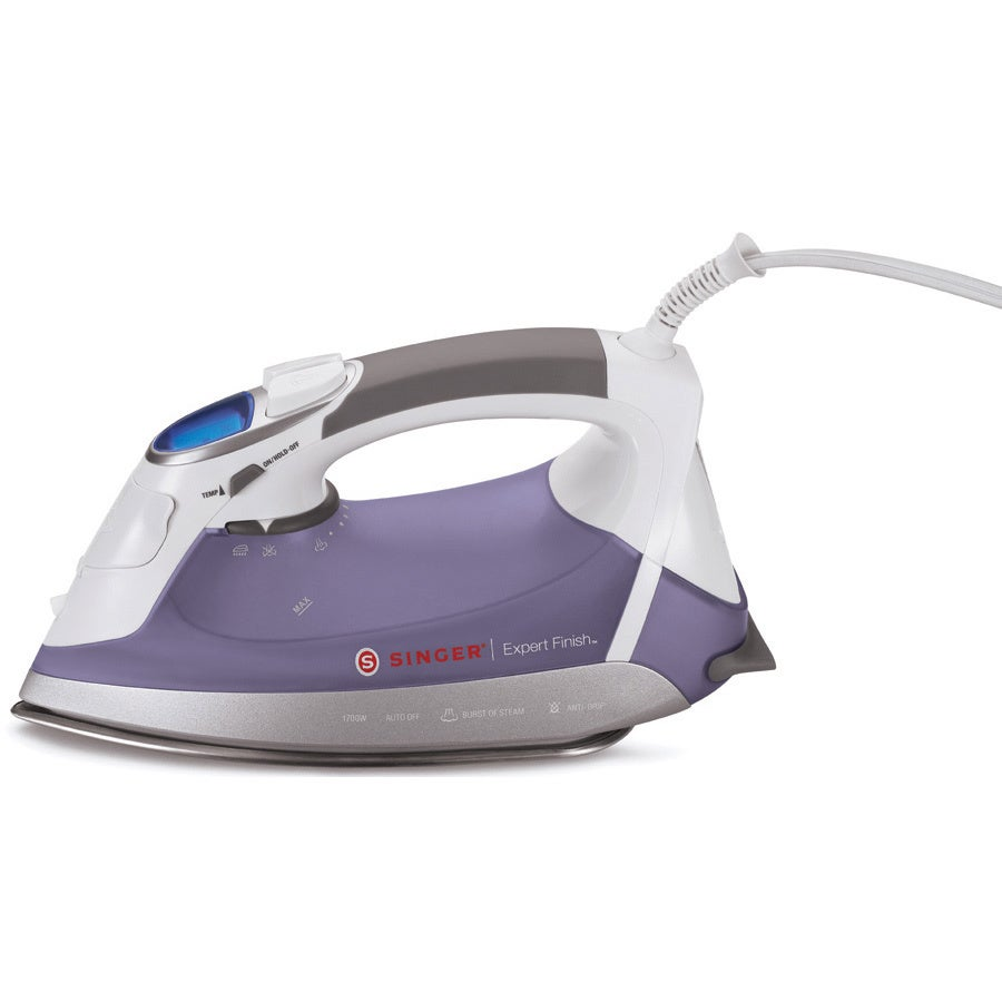 SINGER SEWING CO. Expert Finish EF.04 Steam Iron, White (...