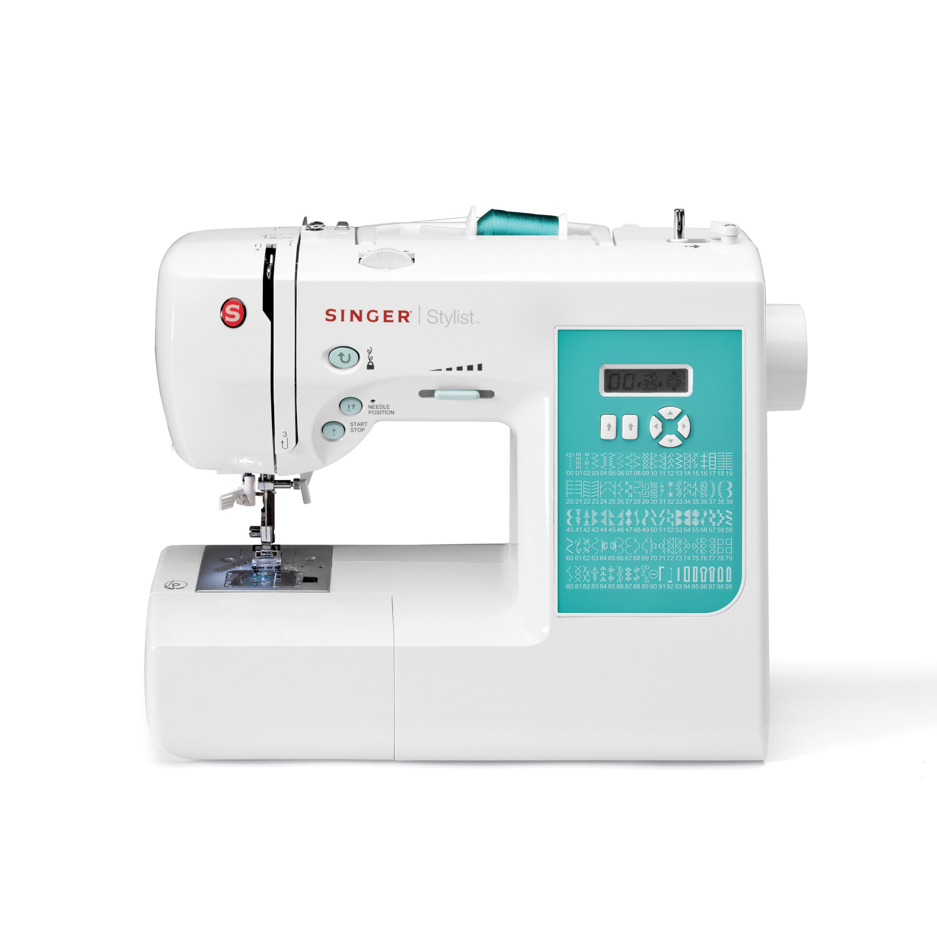 SINGER SEWING CO. 7258 Stylist Electronic Sewing Machine,...
