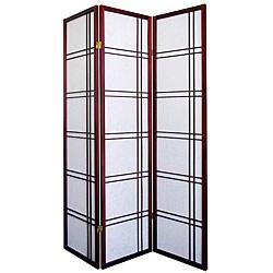 Girard 3-panel Cherry Room Divider Screen