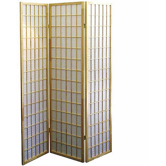Shop 3 panel Natural Room Divider Free Shipping Today Overstock