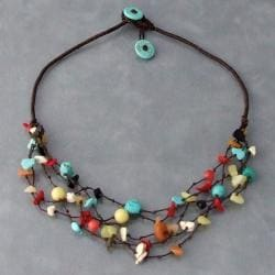 Handmade Multi-gemstone Layers Necklace (Thailand)