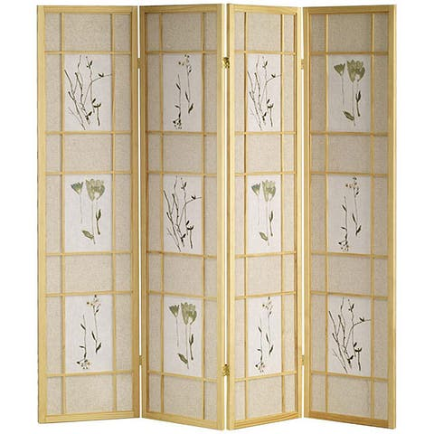Shoji Natural 4-panel Screen