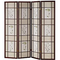 Shoji 4-panel Cherry Screen