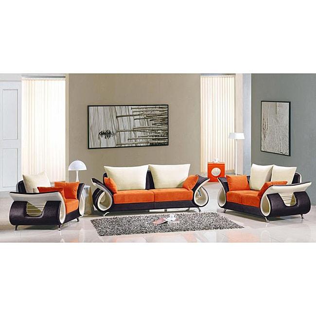 EuroDesign 3-piece Fabric Sofa Set