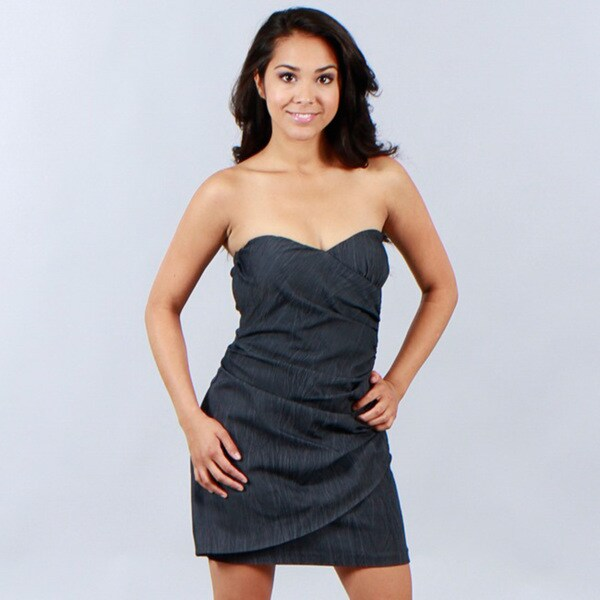 Wishes Juniors Slate Blue Party Dress