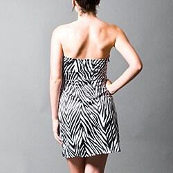 Wishes Juniors Size 7 Zebra Print Strapless Dress