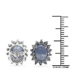 Malaika Sterling Silver Tanzanite Stud Earrings - Thumbnail 2