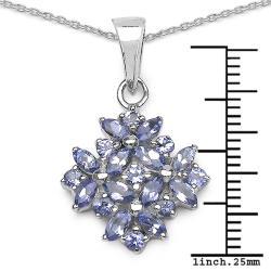 Malaika Sterling Silver Tanzanite Necklace - Thumbnail 2