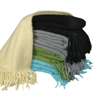 Cashmere Showroom Loop Boucle Mohair Throw