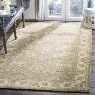 Safavieh Handmade Antiquities Gem Green Wool Rug (6' Square)