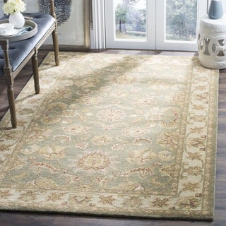 Safavieh Handmade Antiquities Gem Green Wool Rug (8' Square)